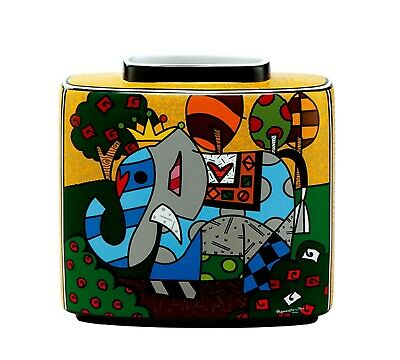 GREAT INDIA 1 Romero Britto Vase 66450933 PopArt Goebel Porzellan H19 cm Elefant
