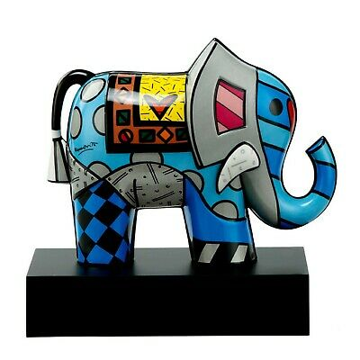 GREAT INDIA 2 Goebel Skulptur PopArt 66450941 Elefant Romero Britto Symbol Glück