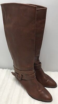 94207c09a99 Womens Unisa Tall Riding Boots Size 5.5 B Camel Brown Leather Brazil F6 Heel