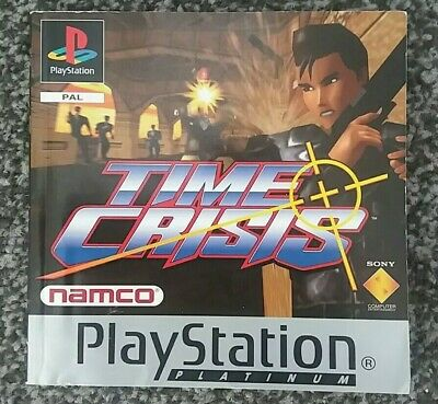 TIME CRISIS Playstation PS1 - Manual Only