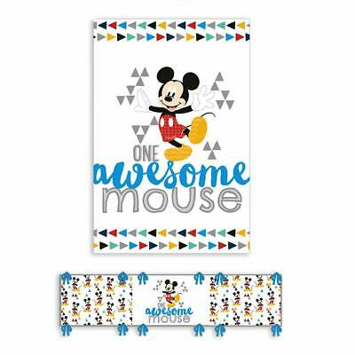Trapunta culla con paracolpi MICKEY DISNEY 120x150 cm OWESOME MOUSE