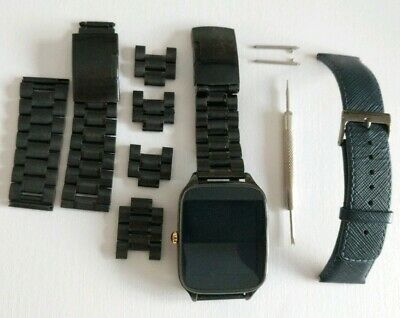 Asus Zenwatch 2 WI501Q Smart Watch Inc 2 Black Metal Straps