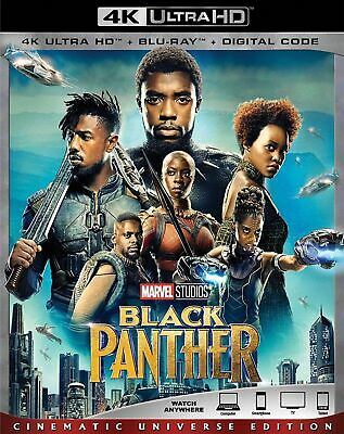 4K Ultra HD: Black Panther ($k + Blu-Ray + Digital Code) * Slip Cover* FREE SHIP