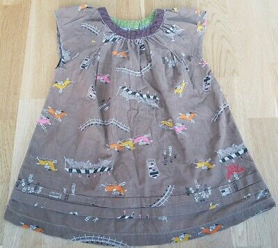 Joules 7 years girl short-sleeved top horses race brown needlecord course party