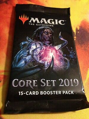 1x Magic the Gathering MTG Core Set 2019 M19 New Factory Sealed Booster Pack