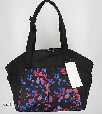 a8c99ae246 NEW LULULEMON Free To Be Bag Dandy Digie Multi Black Gym Yoga Travel FREE  SHIP