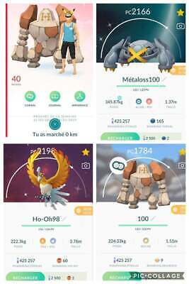 Pokemon Go Account Level 40 Full legendaries / 100iv / shinies (100% safe)