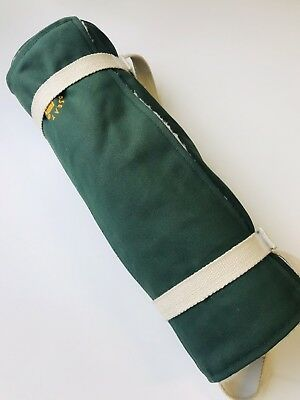 Ortho Seat Ground & Bleacher Support Wood & Canvas Padded Cover Green Hand Made