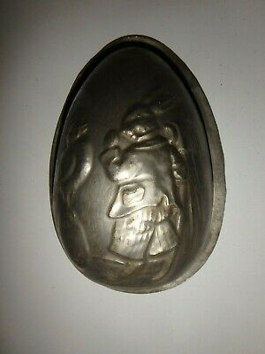 XRARE antike Schokoladenform EI m HASE antique chocolate mold EGG A. REICHE