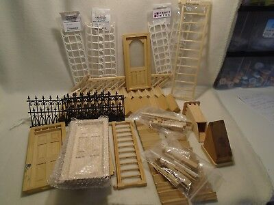 Dolls House Mixed Lot Doors, Stairs, Railings 12Th Scale