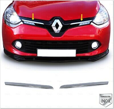 Renault CLIO 4 GRAND TOUR Chrome Grille de Calandre INOXYDABLE 2tlg 2012 +
