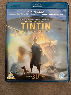 The Adventures Of Tintin - The Secret Of The Unicorn (3D Blu-ray, 2012)