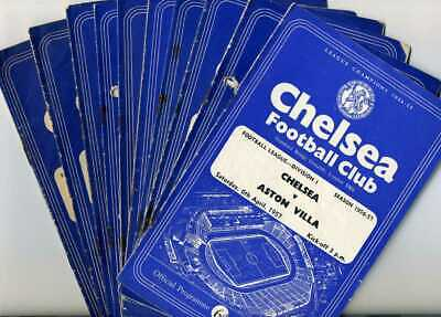 11 Chelsea HOME programmes from 1957 to 1959