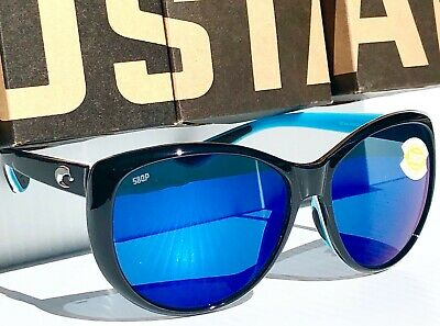 7a31f59b915a0 NEW  COSTA Del Mar LA MAR Black POLARIZED 580P Blue Womens Sunglass LM 87