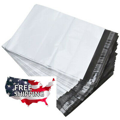 """100  9 x 12"""" Poly Mailers White Envelope Plastic Shipping Bags"""
