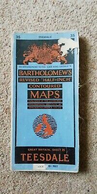 Bartholomews Map of Teesdale (on cloth) Number 35