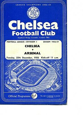 11 Chelsea HOME programmes from 1956 to 1960