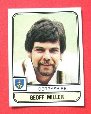 Panini.. Cricket 83...x 1 Sticker. ..# 12   Geoff Miller    Derbyshire  ...vg
