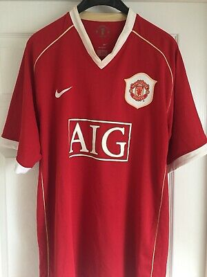 Manchester United Home Shirt 2006/07 Adult Size XL 'Neville 2'