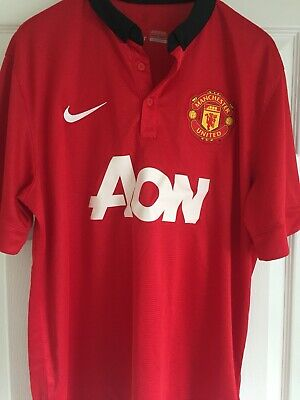 Manchester United Home Shirt 2013/14 Adult Size Large