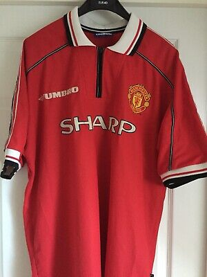 Manchester United Home Shirt 1998/2000 Adult Size XL Keane 16