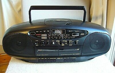 Quality JVC RC-X620 CD Portable Stereo System *Boombox* CD/Tape/AM-FM Radio