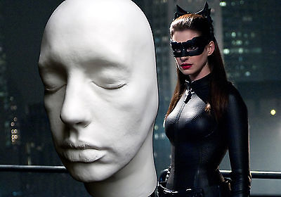 Anne Hathaway Half Face Life Mask Lifecast Bust Dark Knight Catwoman Hot Toys
