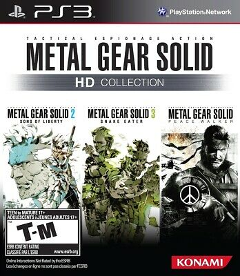 Metal Gear Solid HD Collection PS3. No CD. No Disc. 3 Games