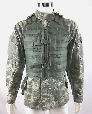 Army Military Tactical Vest MOLLE FLC LBV ACU Fighting Load Carrier