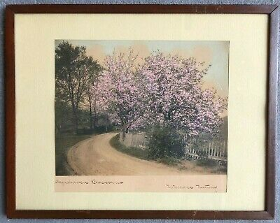 "Wallace Nutting Print On Textured Paper ""Fairhaven Blossoms"" Signed"