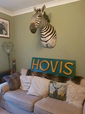 Antique HOVIS Sign letters bakery Baker bread kitchen industrial salvage 🍞
