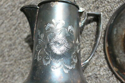 Silver-plated communion set Antique Vintage Engraved Christian Wafer-tin 1920's