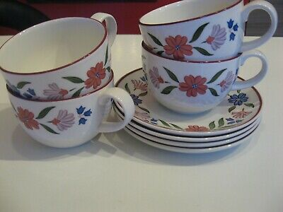 MARKS AND SPENCERS CRANBROOK TEA CUPS AND SAUCERS X 4 (Discontinued)
