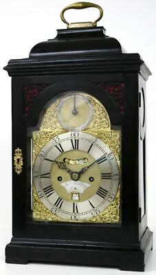 Original English Twin Fusee Verge 8Day Bracket Clock James Snelling London C1770