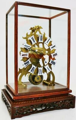 Janpanese Single Fusee Verge Skeleton Clock Sweeping Seconds Hand Mantel Clock