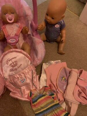 Baby Born Girl And Boy Doll Bundle With Car Seat