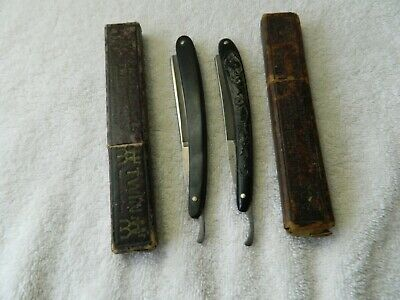 Two Vintage Straight Razors Solingen Germany Made Import