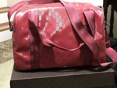 2a630a7150b6 NWT AUTHENTIC GUCCI Logo Imprime Duffle Bag Carry-On Travel 374769 ...