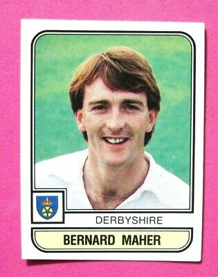 Panini.. Cricket 83...x 1 Sticker. ..# 14   Bernard Maher    Derbyshire  ...vg