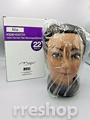 "22"" inch 100% Human Hair Mannequin (Ethnic)"