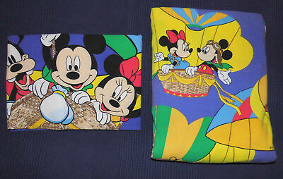 Mickey Minnie Mouse Bettwäsche Stoff 80er fabric bedding vintage 80s Disney Maus