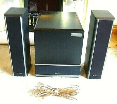 Technics 2.1 Speakers System, 2x Front speakers & Passive Subwoofer *Free wires*