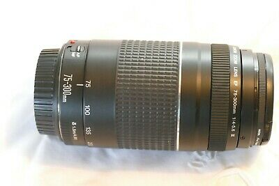 Canon EF 75-300mm f/4-5.6 III USM Zoom Lens - USED (VERY GOOD CONDITION)