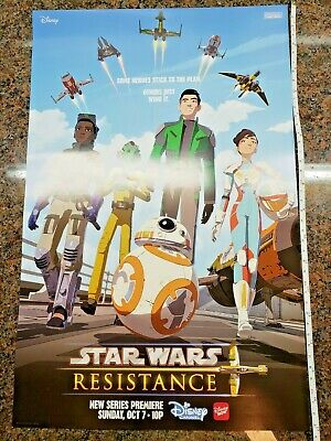 Star Wars Resistance Poster Animated Series Disney Channel Show BB-8 NYCC 2018