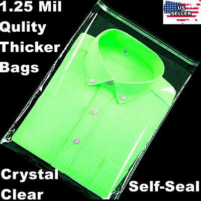 "300 9x12"" 1.25 Mil Bags Resealable Clear T-Shirt Catalog Plastic Opp Cello Bag"