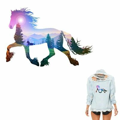 Iron On Heat Transfer Horse Sticker DIY T Shirt Clothing Patches A-Level Decor