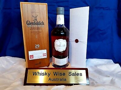 "Glenfiddich 29 Year Old ""Spirit of A Nation"" Limited Edition Bottle 130 of 250"