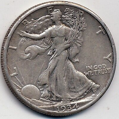 1934-S Xf  (Extremely Fine) , Walking Liberty Half Dollar