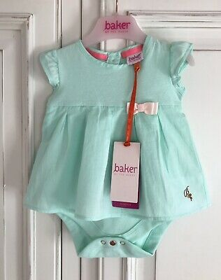 New With TAGS TED BAKER *0-3m BABY GIRLS designer Peppermint DRESS AGE 0-3 Month