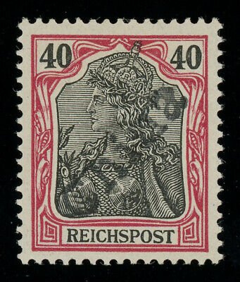 German P.O. in China 1900 Tientsin hand-overprint on 40pf MH *, sign. H. Krause